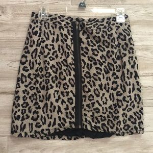 Urban outfitters leopard animal print mini skirt